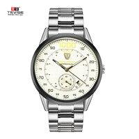 Original TEVISE Brand Men S Automatic Mechanical Watch Fashion Vintage Luxury Luminous Waterproof Leisure Wrist Watch