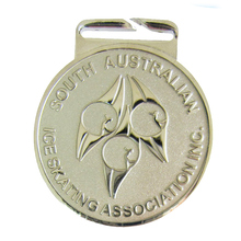 Competitive price and authentic quality skate medallion Australian round silver medal