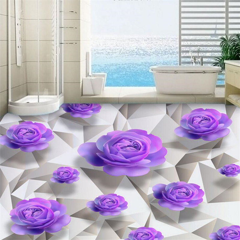 beibehang murals papel de parede 3D wall sticker wallpaper for living room PVC waterproof floor self-adhesive wall paper custom 3d flooring wallpaper pvc wear non slip waterproof thickened self adhesive murals sticker hotel bathroom papel de parede