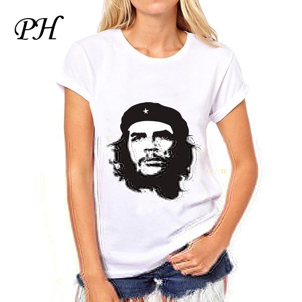 9ed37fbc3c PinHe Che Guevara Graphic Print T shirt White Summer Style Women Slim  Harajuku T shirt Female Blusa women tee tops-in T-Shirts from Women s  Clothing on ...