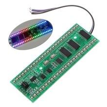 RGB MCU Display Pattern Dual Channel 24 LED VU Level Indicator Meter F Amplifier Z07 Drop ship