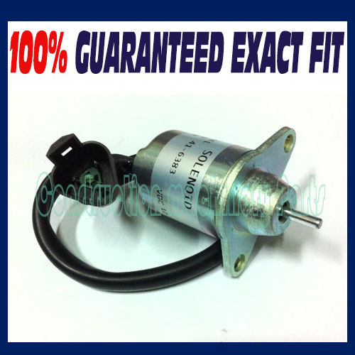 Fast free shipping - For Yanmar shut off/shutdown/Fuel Solenoid Replaces Thermo King 41-6383 / 41-4306 / 1503ES-12S5SUC11S 12V fast free shipping fuel shutdown solenoid 1751es 12a3uc12b1s hyundai excavator r60 5 for yanmar engine