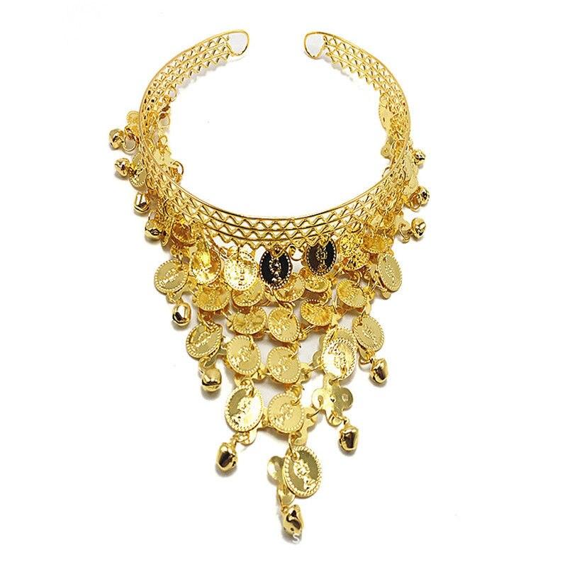 Gold Metal Charm Headband Bohemian Fashion Hairband Coin Tassel Headpiece Belly Dance Head Band Hair Jewelry Indian Jewelry