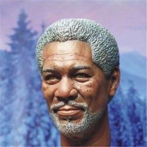 """Image 3 - Morgan Freeman modelo de cabeza esculpida para hombre, juguetes a escala 1/6, modelo de talla de cabeza para hombre, accesorio de figura de acción masculino de 12 """", envío gratuito"""