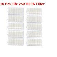 10 шт. фильтры для пылесоса ilife v50 HEPA фильтр для ilife v50 Запчасти для пылесоса