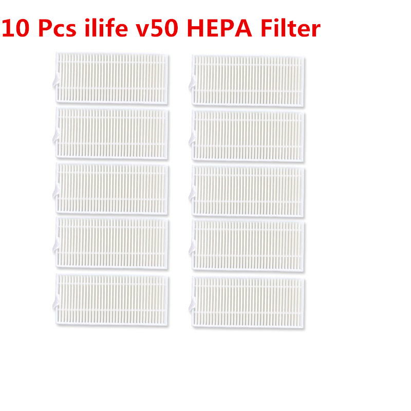 10 Pcs Vacuum Cleaner Filters Ilife V50 HEPA Filter For Ilife V50 Vacuum Cleaner Parts