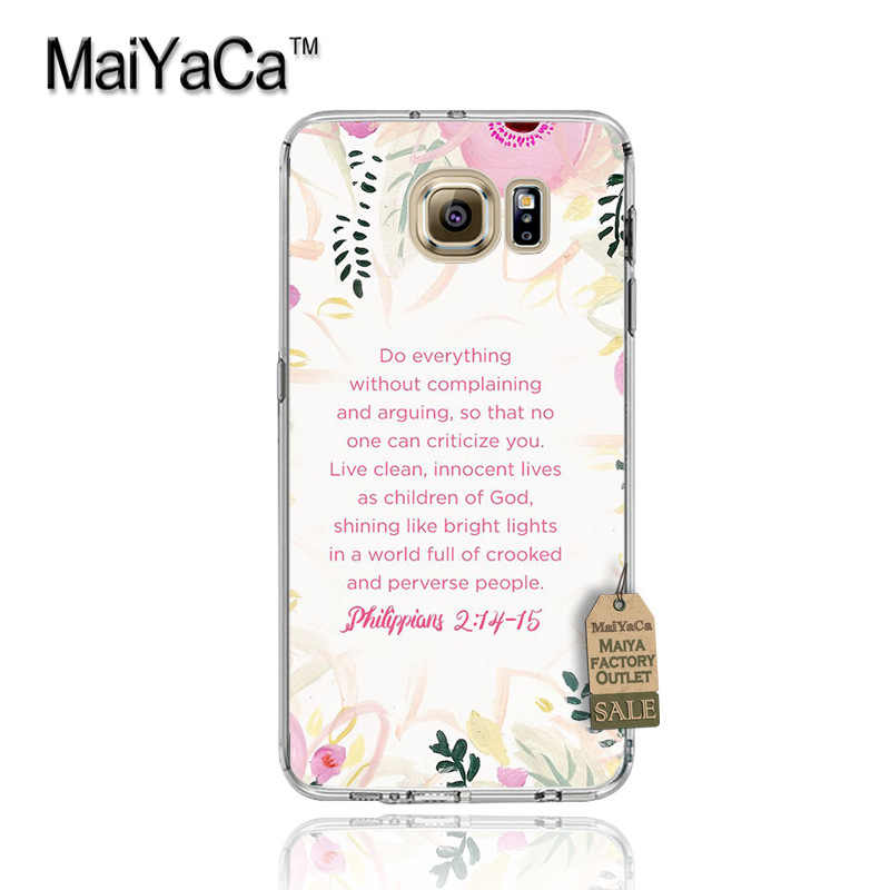 MaiYaCa Bible verse Philippians Jesus Christ Christian Phone Case for  Samsung S5 S6 S7 Edge S8 Plus S6 Edge Plus S3 S4