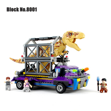 Jurassic World Dinosaur Building Blocks Tyrannosaurus Rex Tracker Figure Bricks Assemble Classic Compatible