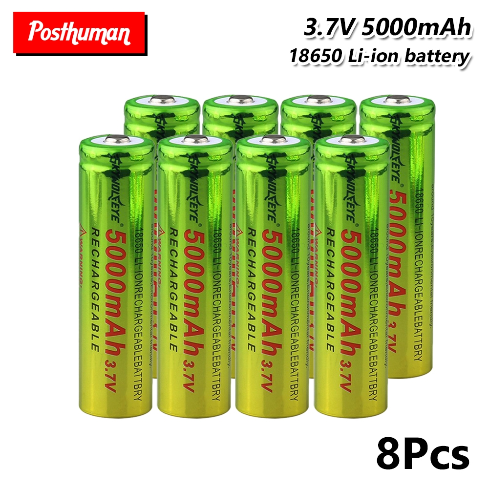 For Flashlight Mini Fan Gamepad Headlamp Toy Flashlight Battery Rechargeable BATTERY 3.7V 5000MAH CELL 18650 LI-ION bateria