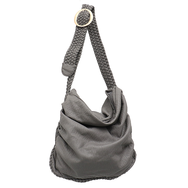 Big Soft PU Leather Shoulder Bag