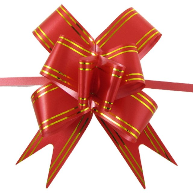 Gift packing red gold tone poly pull bow ribbon diy decor 10 pcs gift packing red gold tone poly pull bow ribbon diy decor 10 pcs negle Images