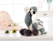 big plush gray camel toy new cartoon camel doll gift about 50cm 410