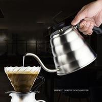 MICCK Stainless Steel Gooseneck Pot Coffee Percolators Kettle Pot Coffee Maker Pitcher Tea Percolator Teapot Barista Tools