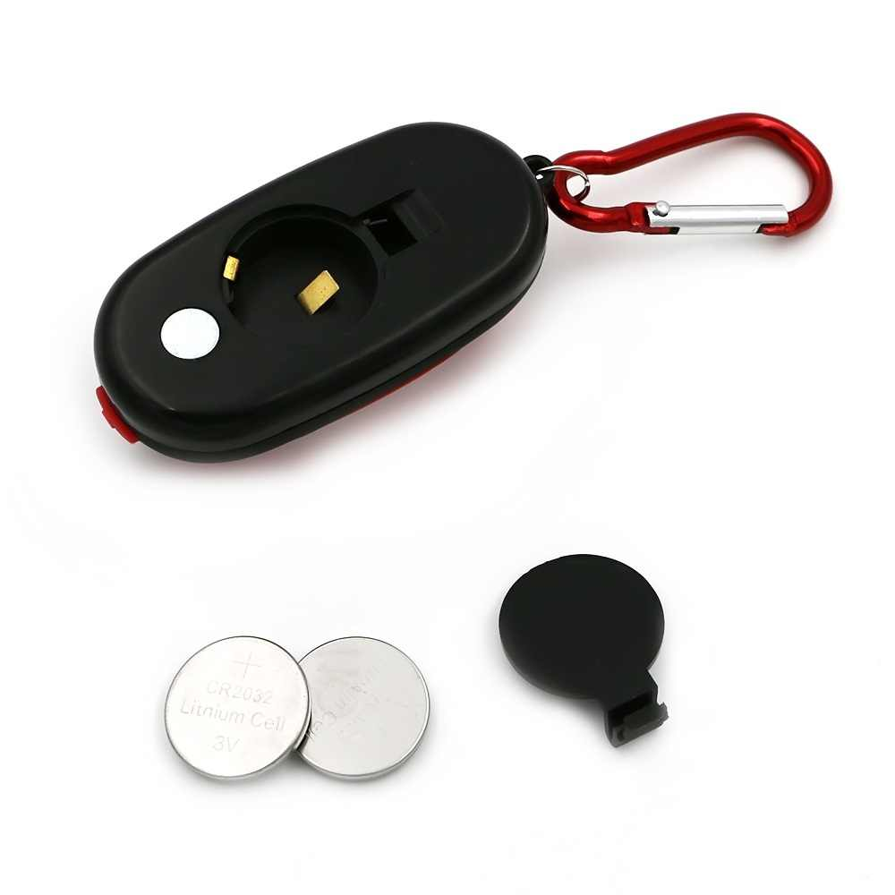 Портативный мини-брелок карманный фонарик 3 режимов удара светодио дный Light фонарик лампы многоцветный мини-фонарик и пуговицы Батарея