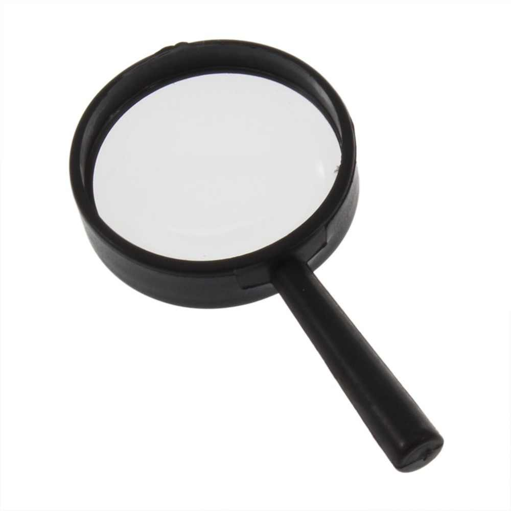 Handheld Reading 5X Magnifier Hand Held Magnifying 25mm Mini Pocket Magnifying Glass Children Magnifying Glass