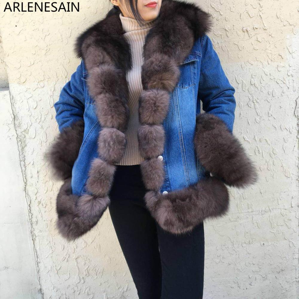 Importés Fourrure Section Mink Personnalisé Arlenesain Renard Veste Longue Automne Manteau Cowboy Femmes Grey EZwtqO