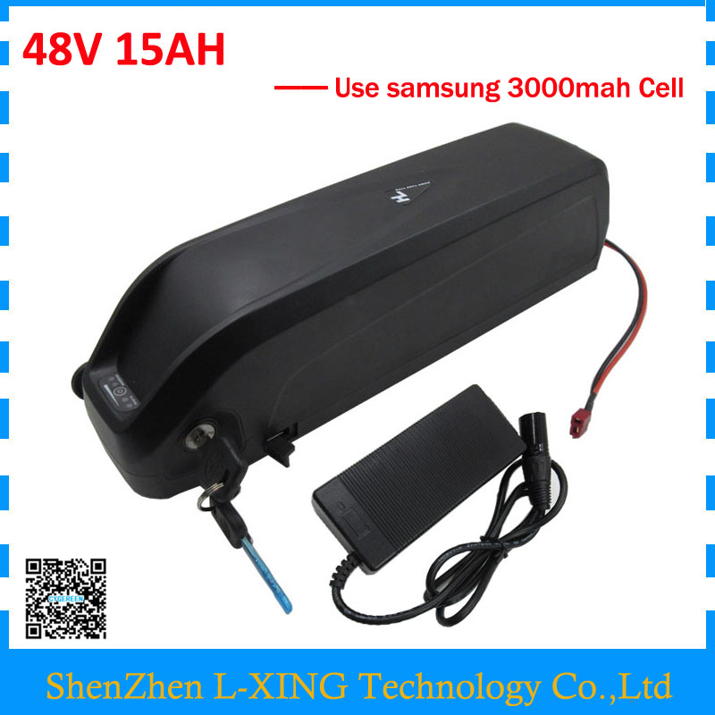 Down tube Hailong battery 48V 15Ah 750W 48V lithium battery 15AH with USB Port Use Samsung 3000mah cell US EU Free Tax free customs taxes super power 1000w 48v li ion battery pack with 30a bms 48v 15ah lithium battery pack for panasonic cell