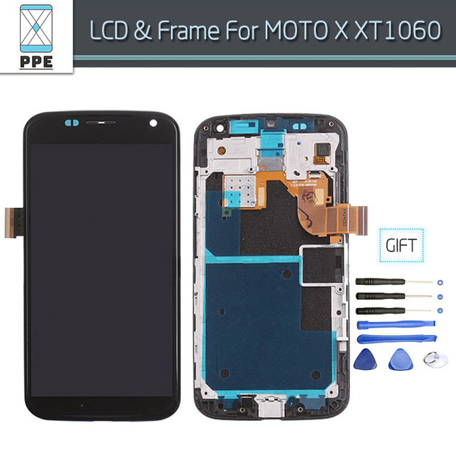 LCD Screen For Motorola Moto X X1 XT1052 XT1053 XT1056 XT1058 LCD Screen Display Touch Digitizer Assembly With Frame Gift Tools