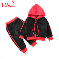 R Z Boys And Girls Clothing Suit 2017 New Winter Double Sided Cashmere Sweater Hat Fox