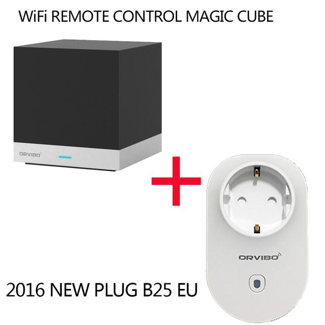 Orvibo allone cubo mágico sistema domótico inteligente controlador de control remoto ir + wifi orvibo b25 wifi del teléfono celular de energía socket