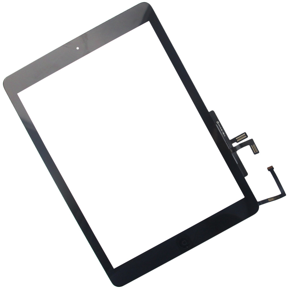 New Black Touch Screen with Home Botton for ipad 5 Tablet  PC Aassembly Glass Panel Digitizer Replacement Free Shipping original and new touch screen 32001273 03 32001273 for tablet pc free shipping