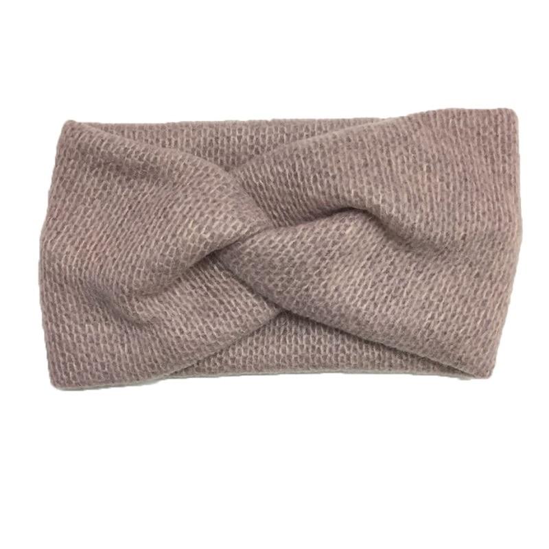 New Arrival Fashion Women Cross Soft Woolen Weaving Headbands Girl's Cute Warm Headwear Lady's Korea Vintage Hair Accessories