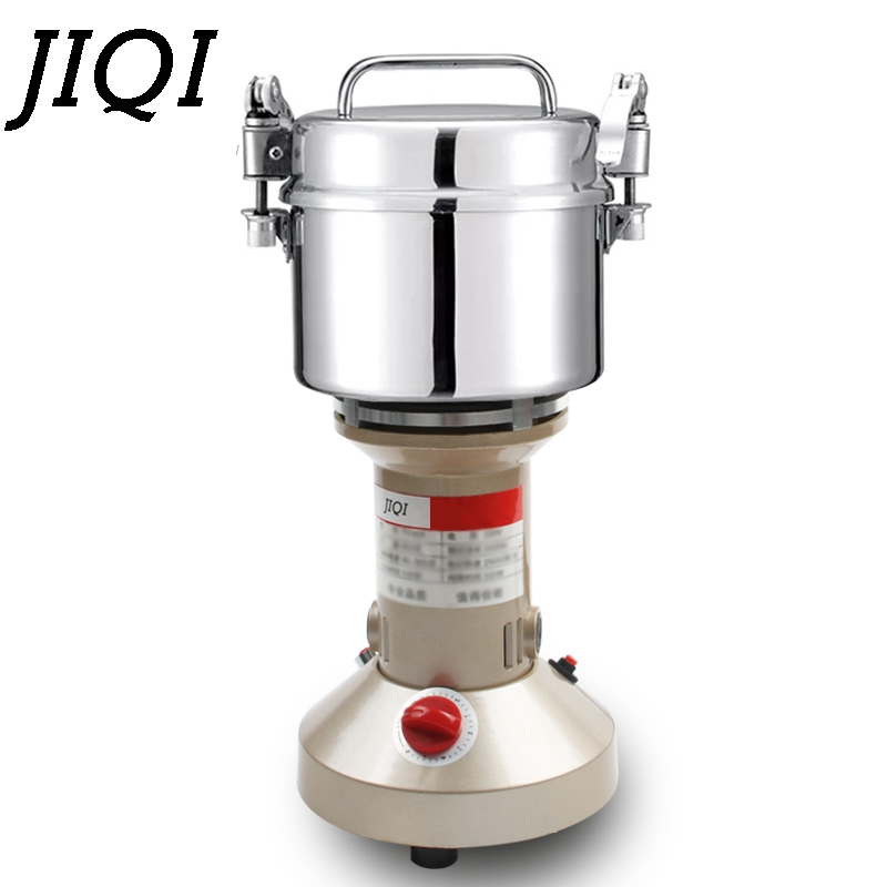 JIQI Stainless Steel Electric Grinder Chinese herbal medicine Mill Grinding Machine Nuts Coffee Pulverizer 800g Herbs Crusher EU цена и фото