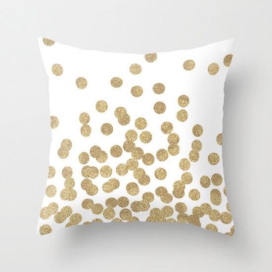 Livraison Gratuite Or Glitter Dots Coussin Decoratif Couvre Polyester Throw Ikea Gros Voiture Canape Bureau Il Taie D Oreiller Aliexpress