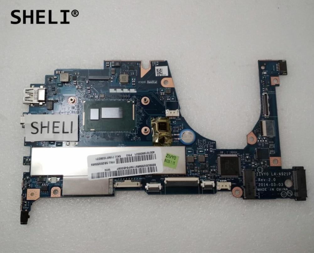 все цены на SHELI For Lenovo Yoga 2 13 Motherboard with I3-4030U cpu 4G memory LA-A921P 5B20G55969