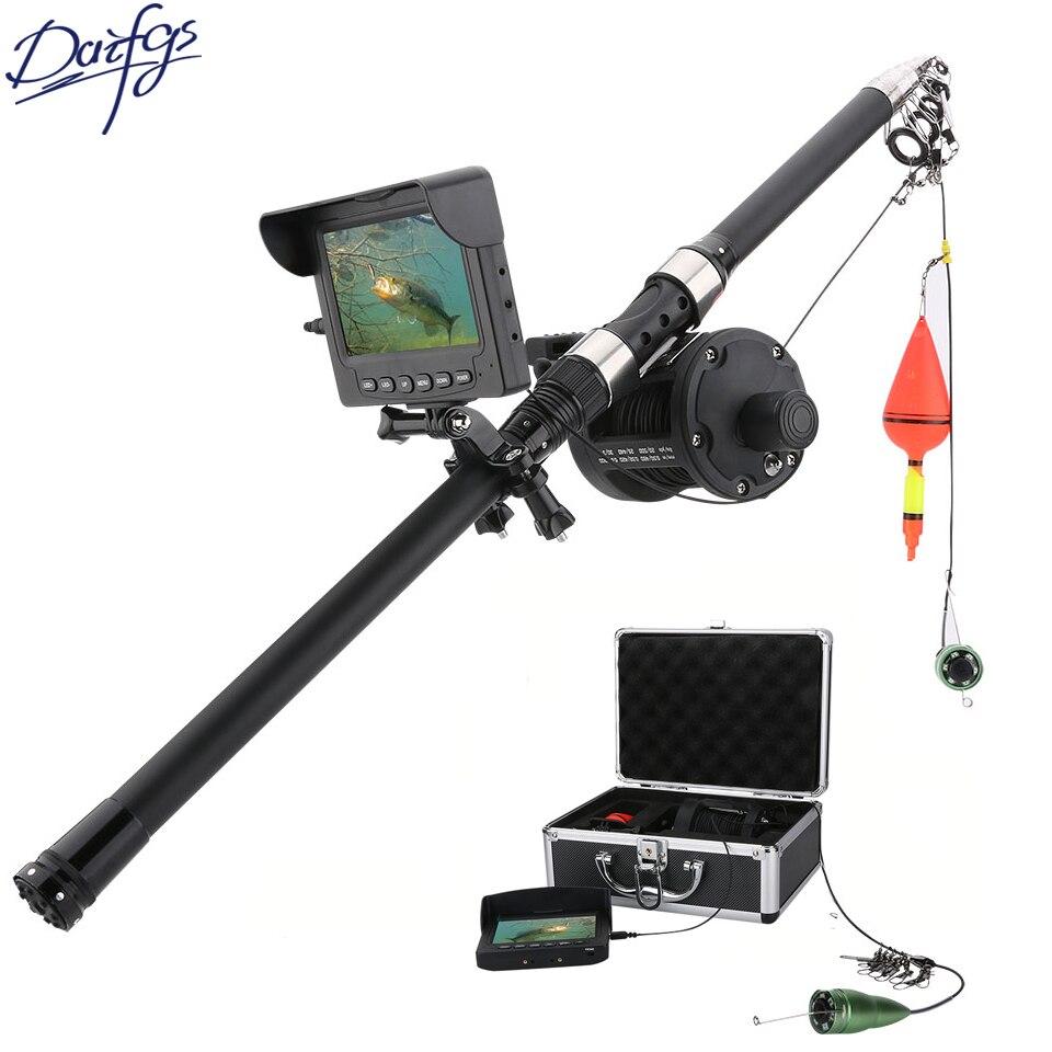 15 m/25 m Sous-Marine Pêche Caméra Mer roue Caméra Fish Finder 4.3 LCD 6 w Blanc LED 165 Degrés Angle IP68 Glace De Pêche Caméras