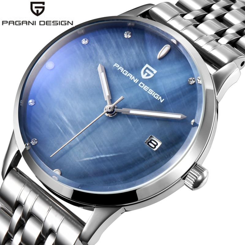 2019 Pagani Design de luxe femmes robe montres en acier Bracelet en cuir dames genève Quartz Bracelet montres Relogio Feminino