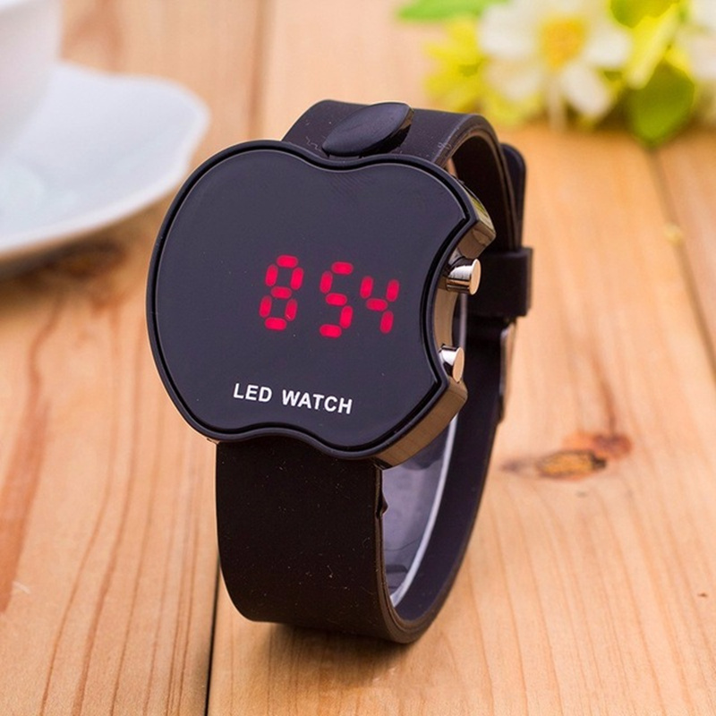 2018 New Soft Silicone Sports Watch Women Series Wristband LED Watch Electronic Bracelet Candy Colors Fashion Brand wristwatches(China)