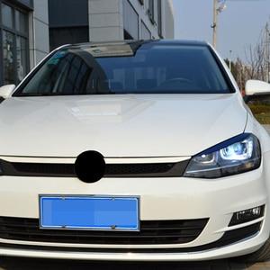 Image 5 - Carmonsons reflektory brwi powieki ABS chromowane wykończenie naklejka na pokrywę dla Volkswagen VW Golf 7 MK7 GTI akcesoria Car Styling