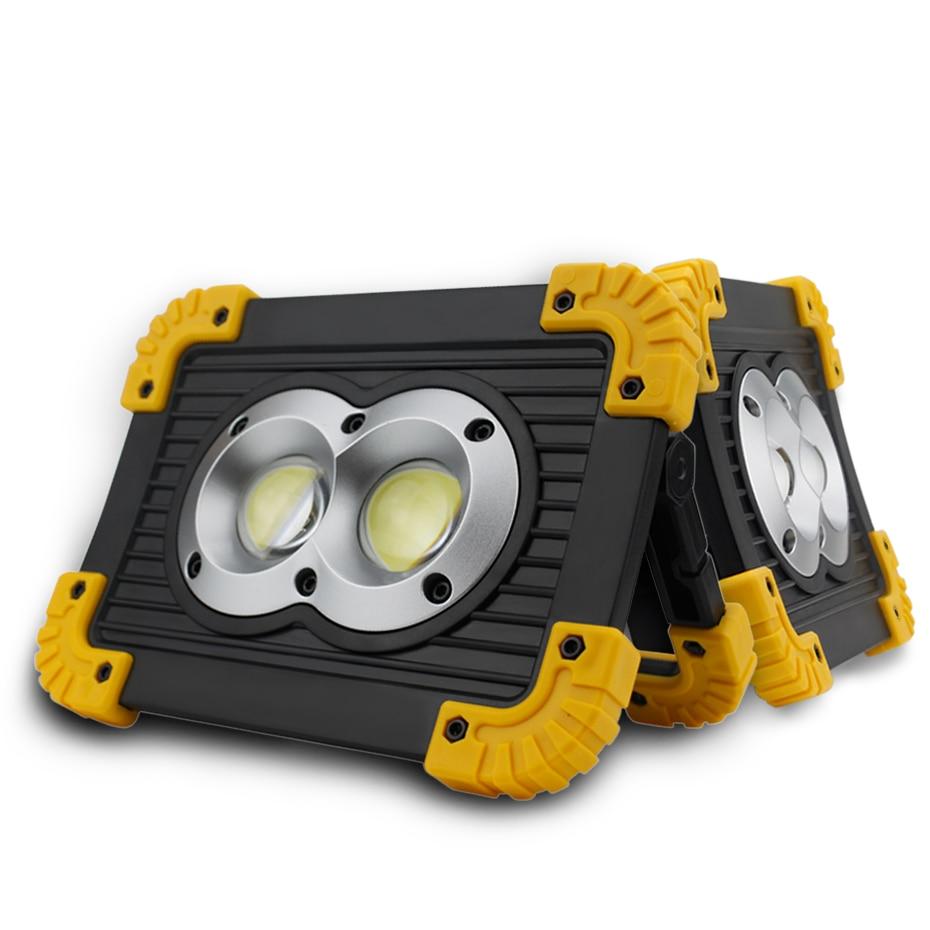 Black Light 20w Led Work Rechargeable Battery Portable Spotlight Waterproof Ip44 Outdoor Lighting Emergency In Spotlights From