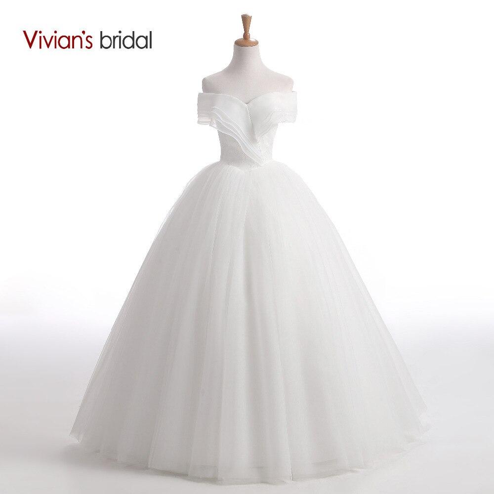 Ženske poročne obleke z brezročniki brez rokavov Vivian brez oblek na rame nazaj čipke Tille poročne obleke 2018 bela poročna obleka