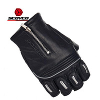 Summer New SCOYCO Motorcycle Gloves Racing Motorbike Riding Gloves Knight Half Finger Leather Gloves Men Women