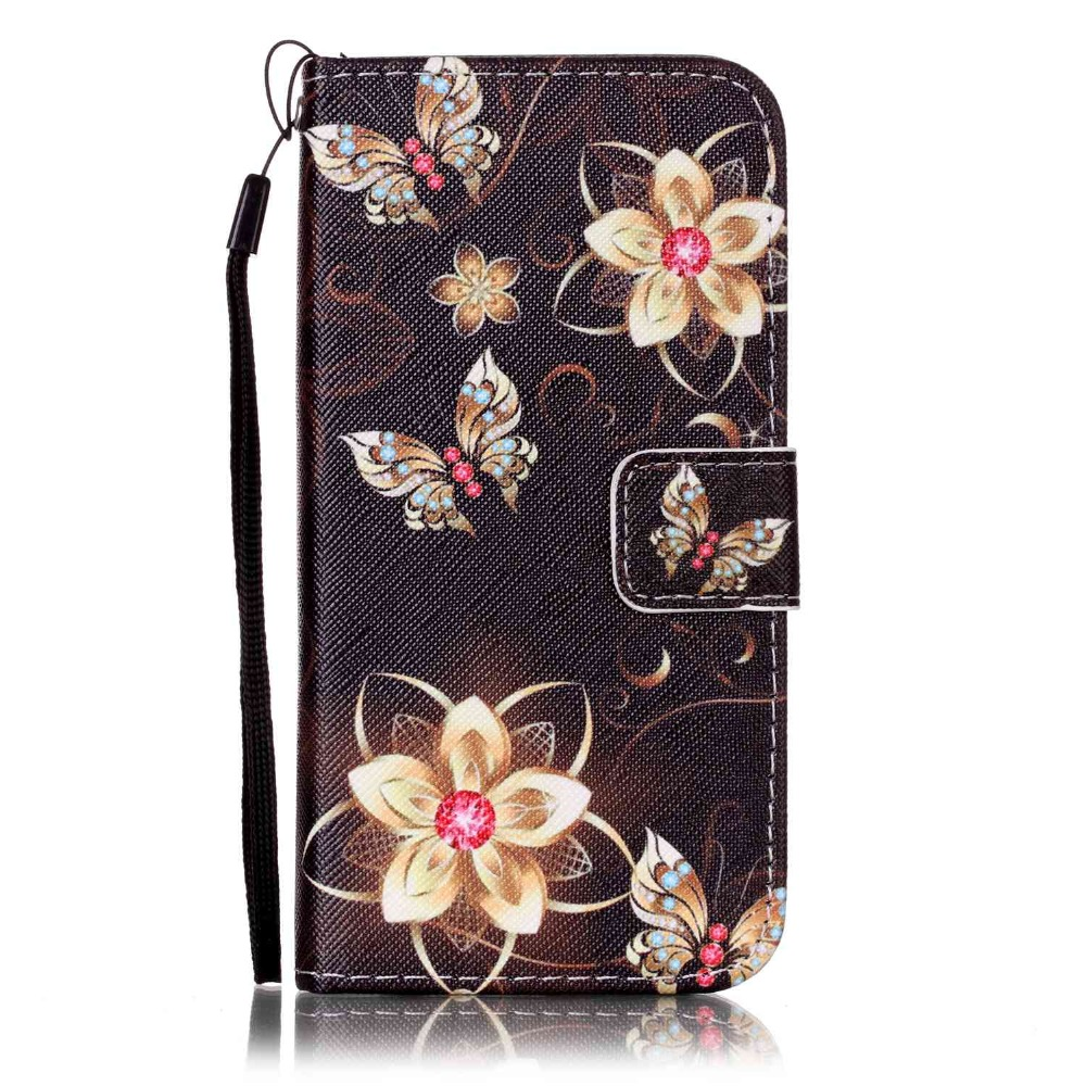Owl Flower Cartoon Luxury Wallet PU Leather Cover For iPhone 7 Phone Bag Case With Card Holder Stand For iPhone 7 4.7inch Cover