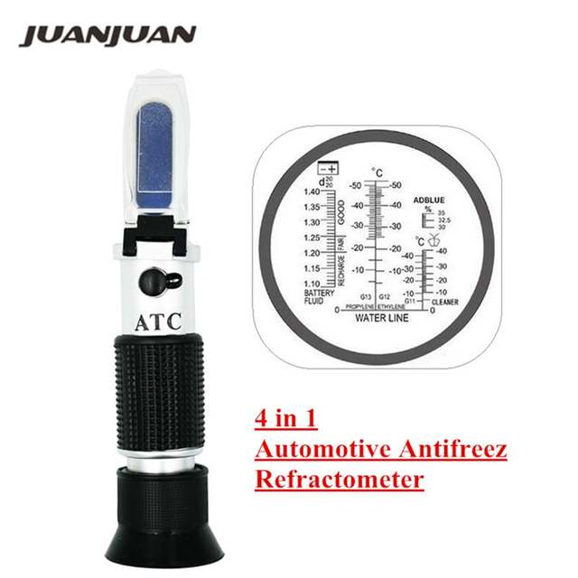 Hand Held Optical 4 In 1 Freezing Refractometer Concentration Of Urea With Atc For Car Manufacturers Large Fleet 45 Off