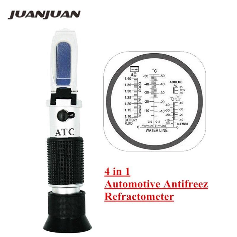 Main Optique 4-en-1 Congélation réfractomètre concentration de l'urée avec ATC pour voiture fabricants grande flotte 45% off