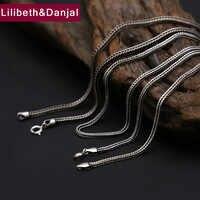 2mm chaîne de queue de renard 925 en argent Sterling collier hommes bijoux corde pendentif collier cadeau fin argent N6