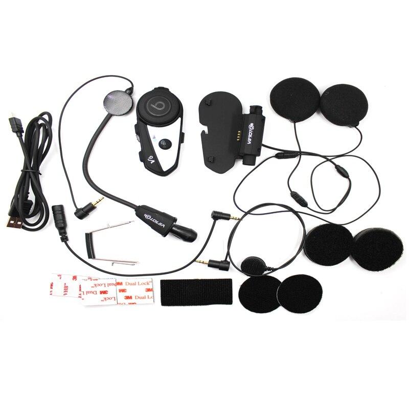 Version anglaise 2 pcs/lot casque moto Vimoto V6 casque Bluetooth stéréo casque Multipoint connexion BT Interphone - 4