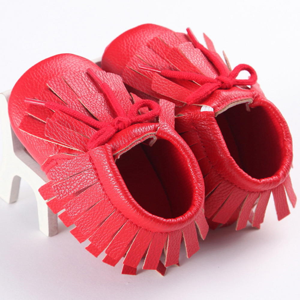Pink And Orange Leather Baby Shoes S