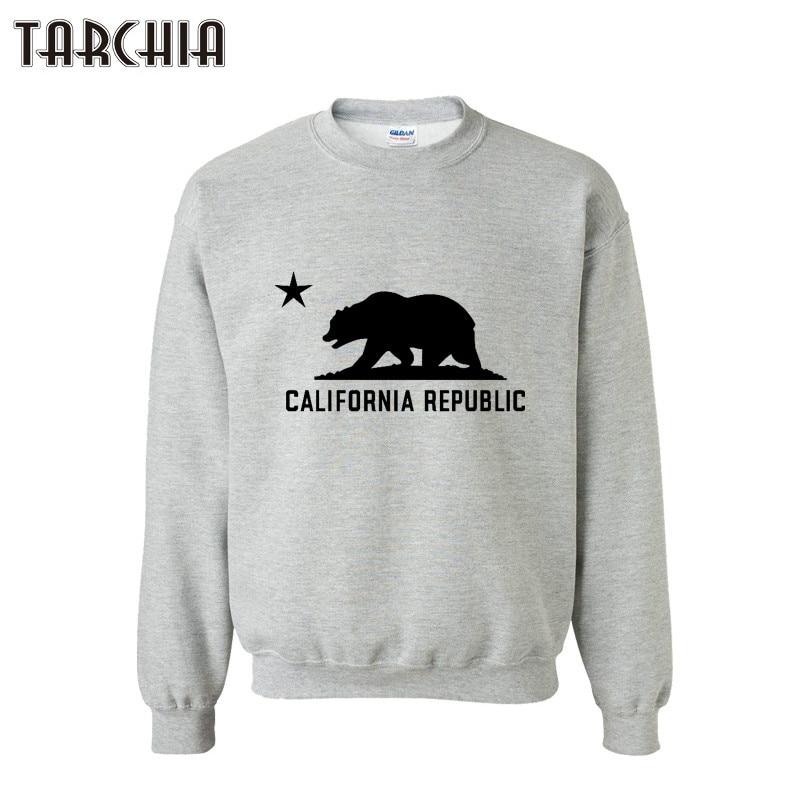 Sporting Tarchia Hoodie Hip Hop Men California Republic Print Brand Hoodies Sweatshirts Hooded Mens Skateboard Pullover Hoodies Men Tops Men's Clothing