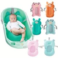 Новорожденный ребенок душ портативная воздушная Подушка кровать младенец подушка для купания детей Нескользящая Ванна коврик Безопасност...