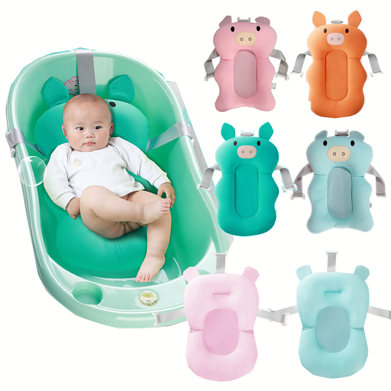 Newborn Baby Shower Portable Air Cushion Bed Babies Infant Bathing Pad Non-Slip Bathtub Mat Safety Security Bath Seat Support