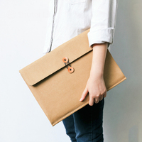 D4801 D4804 Recyclable Washable Kraft Paper Elastic Closure Folder Business Portfolio Office Bill File Document Storage