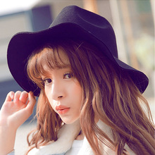 Casual Fashion Hat Black Light Retro Fedoras Men and women Full scale Dome Costume Cap Outdoor