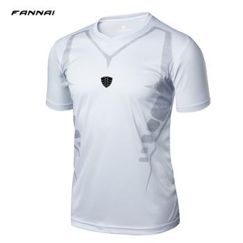 Koszulki z krótkim rękawem koszulki z krótkim rękawem dla mężczyzn szybkie suche koszulki koszulka do biegania Slim Fit topy koszulki sportowe na świeżym powietrzu męska T Shirt rozmiar M-XXL tanie i dobre opinie TFSCLOIN Oddychające Pasuje prawda na wymiar weź swój normalny rozmiar sport Tops V-Neck Polyester only have top Geometric