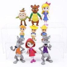 Goldie et Ours de bande dessinée Forêt De Conte de fées Amis PVC Figures Enfants Jouets Cadeaux pour Enfants 9 pcs/ensemble