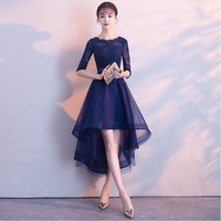 Cocktail Dresses 2019 Top Sale Lace The Banquet High/Low Casual Short Party Dress Formal Prom Gowns Robe de Cocktail